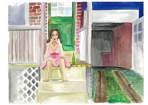 She Stares Alone Into The Night by Jeremiah Iannacci