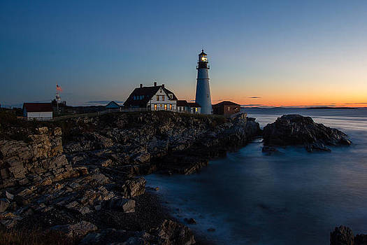 Sunrise at Portland Head Lighthouse by Kaye Seaboch