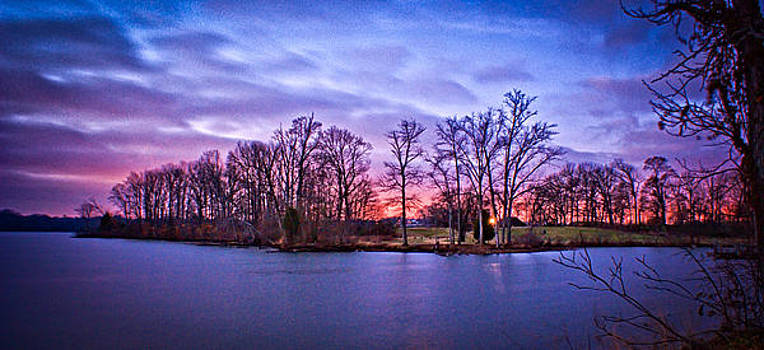 Sunrise from Saunders Ferry Park by Patrick Collins