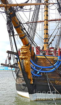 The East India Replica ship by Leif Sodergren