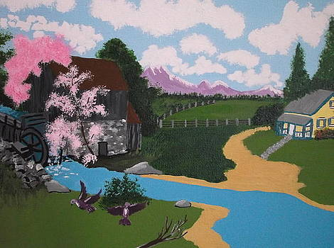 The Grist Mill by Lois D  Psutka