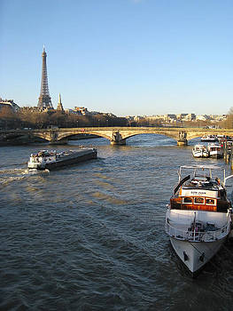 The River Seine in Paris by Kiril Stanchev