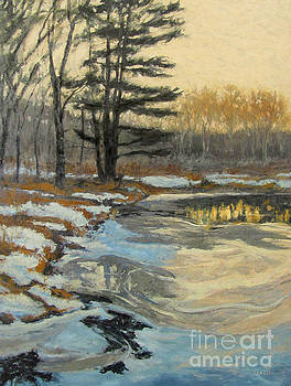 The Thawing Pond - Hudson Valley by Gregory Arnett