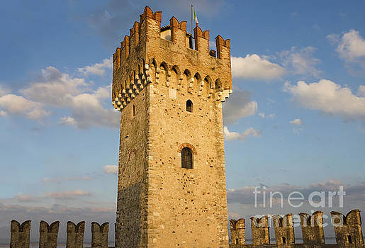 The Tower of Scaliger Fortress in Sirmione by Kiril Stanchev