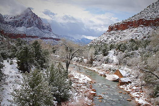 The Watchman after snowfall at Zion by Jetson Nguyen