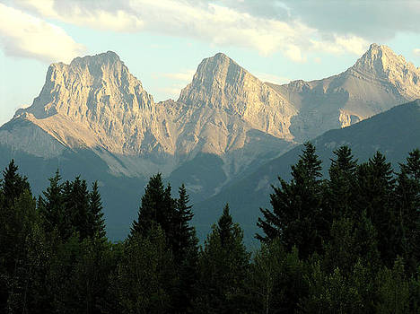 Three Sisters Canmore Alberta by Robert Lozen