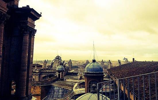 Top of Saint Peter's Basillica  by Shelley Smith