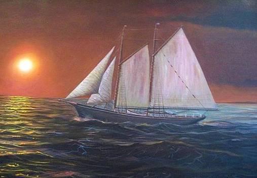 U. S. Revenue Marine Cutter Dobbin by William H RaVell III