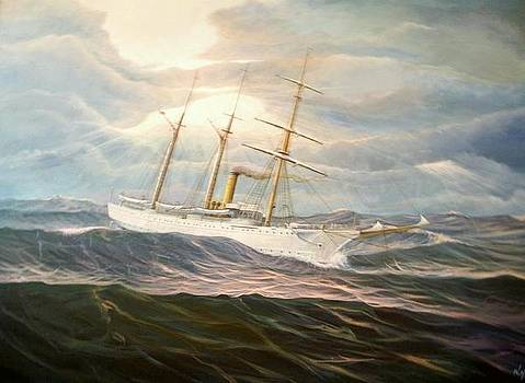 USCGC Alexander Hamilton by William H RaVell III