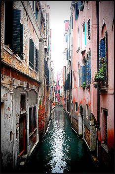 Venice canal pink by Peter Aitchison