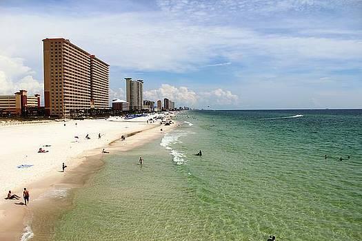 View from Dan Russell Municipal Pier Panama City Beach by Vicki Kennedy