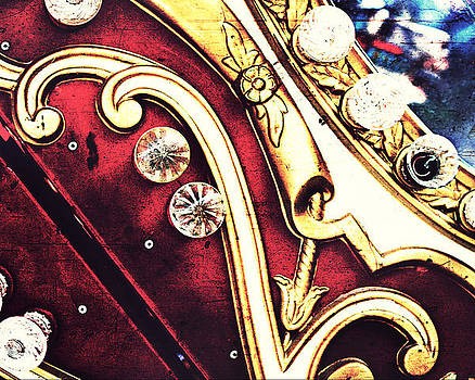 Vintage Carousel Detail by Suzanne Barber