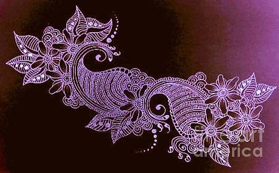 Violet Henna Mehndi Floral  by Jessica Petty