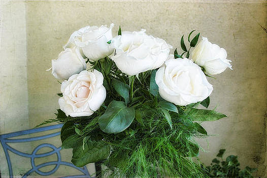 White Roses by Joan Bertucci