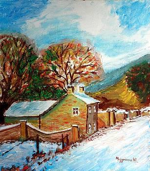 Winter landscape by Mauro Beniamino Muggianu