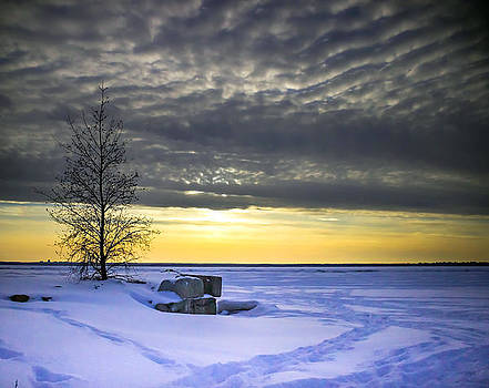 Winter Sunset by Nathalie Deslauriers