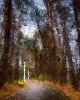 Yellow Bench  by Brian Orlovich