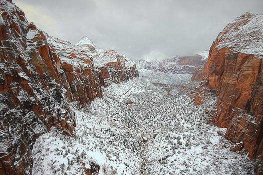 Zion Canyon Deep in Snow by Jetson Nguyen