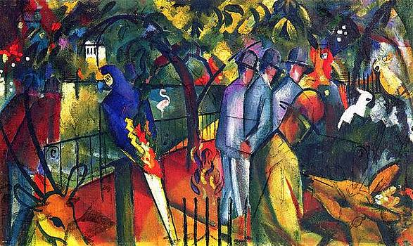 Zoological Gardens 1 by August Macke