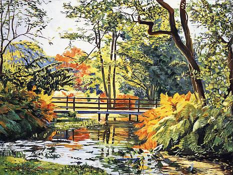 David Lloyd Glover -  AUTUMN WATER BRIDGE