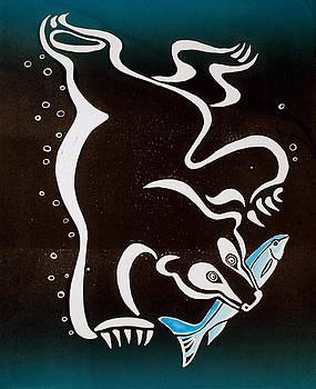 Bear Diving for the Fish by Vadim Vaskovsky