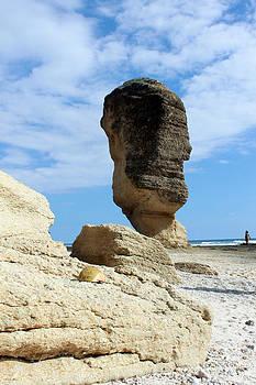 Beautiful rock on the beach by Yusron Rohim