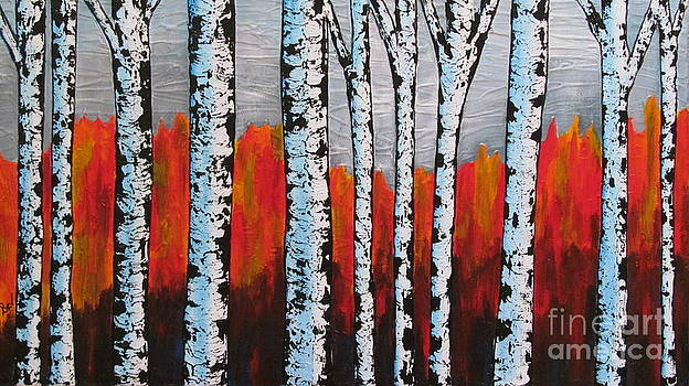Birch Trees by Beverly Livingstone