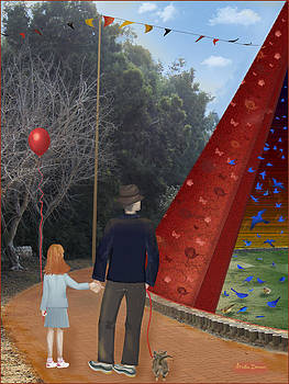 Blue birds Circus by Ariela Zman