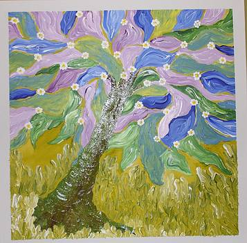 Blue Tree by Jilly Curtis