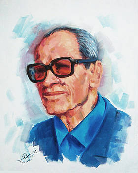 Egyptian writer Nobel Prize Winner Naguib Mahfouz by Ahmed Bayomi