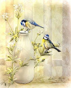 English Blue Tits by Trudi Simmonds