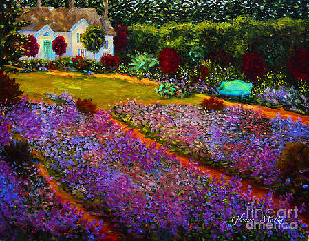 French Palette of Purple Irises by Glenna McRae