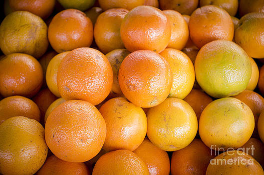 Fresh Oranges On A Street Fair In Brazil by Ricardo Lisboa