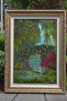 Giverny garden by Michael Mrozik