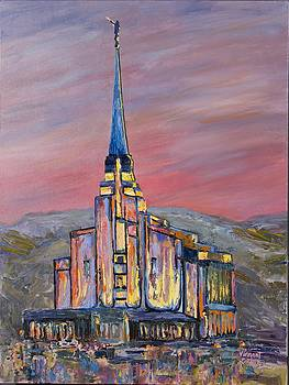 Latter Day Saints Rexburg Mormon Temple Rexburg Idaho by Nancy LaMay