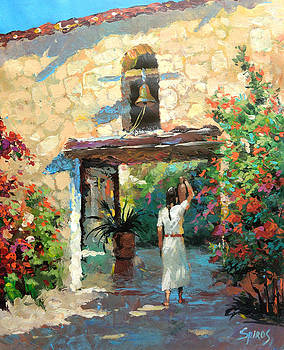 -Mexican girl with jug by Dmitry Spiros