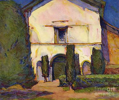 California Views Mr Pat Hathaway Archives -  Mission San Juan Bautista California by Rowena Meeks Abdy  Circa 1915