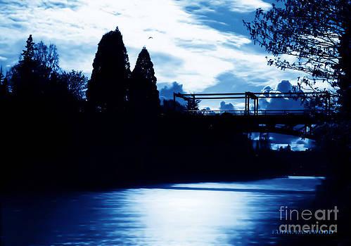 Montlake Bridge In Seattle Washington at Dusk by Eddie Eastwood