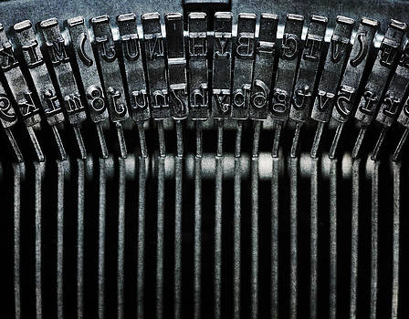 Old-fashioned typewriter by Lars Hallstrom