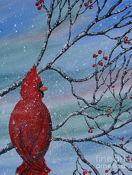 Red Cardinal by Beverly Livingstone
