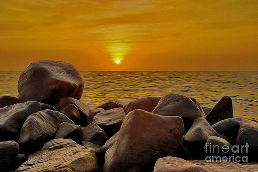 Red Sea Sunset by George Paris