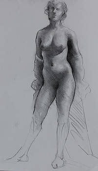 Standing Nude by Ernest Principato