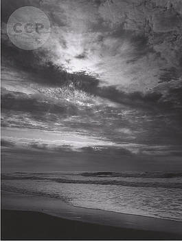 Sunset at Prairie Creek Beach by Ansel Adams