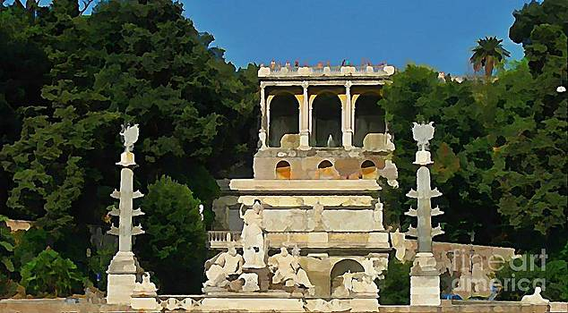 John Malone -  View of Roman Ruins at Piazza del Popolo Square