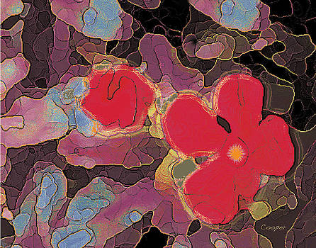 044 Cosmic Impatiens 6 with Blue by Peggy Cooper