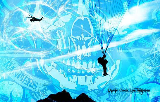 DCLA Designed Skull Gruntscape by David Cook  Los Angeles Prints
