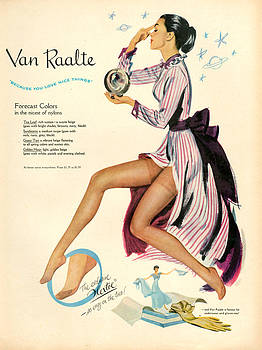 1940s Usa Van Raalte Magazine Advert by The Advertising Archives