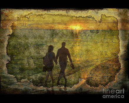 A walk on the beach by Jim Wright