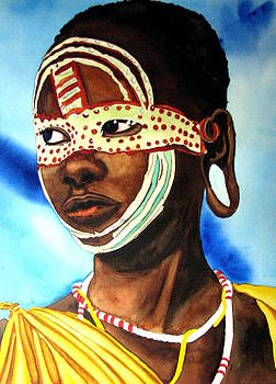 African Bridal Mask by Emmanuel Turner