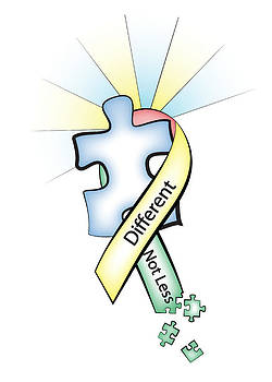 Jeanette K - Autism Ribbon with Puzzle Peaces